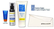 Ivory Caps Complete Skin Whitening Super 3 set of  (SPF 30 Sun Protection with Skin Lightening Support elements+Mega Skin Lightening Cream + Intimate Lightening Support Gel )