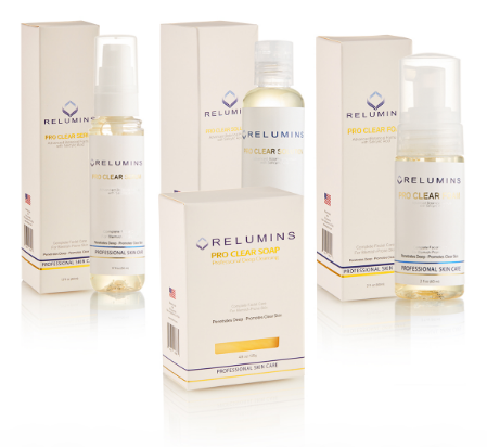 Authentic Relumins Medicated Professional Acne Clear Set with Acne Fighting Botanicals
