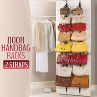 Adjustable Over Door Straps Hanger Clothes Rack Organizer -2 Strapes(16 Hooks)