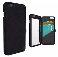 iPhone 6 Plus: Dual Function Cosmetic Mirror Case Card Wallet Back Cover Shell For iPhone 6 Plus 5.5""