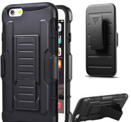 iPhone 6 /iPhone 6S: 2016 HOT ShockProof Hard Heavy Duty Armor Phone Case Combo Belt Clip Hybrid Armor Case Hard Mobile Phone Cover( Black)