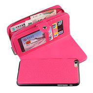 iPhone 6 & 6S : Multifunction Luxury Flip 2 in 1 wallet leather case with card Holster Removable case