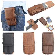 iPhone 6 /6S : Universal Waist Belt Clip Leather Holster Case For mobile phone