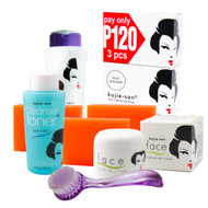 Exclusive Combo Offer with Special BUNDLE!! KOJIE SAN FACE & BODY COMPLETE WHITENING 7PC SET JUST $99.75!!! - W/ 3 Bars SOAP, SPF Body Lotion, Face Cream, Toner and Brush