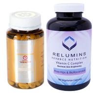 Relumins skin Lightening Vitamin C Capsules & Glutamax  & Tatiomax  Gold Skin Whitening Gel Pills