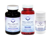 New Relumins Advanced Vitamin C Max & booster , Nutrition Gluta 1000  With Skin Whitening Improved with Rose Hips