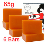 Kojie San Skin Whitening Lightening Kojic Acid SOAP - Pack of 3 (2 BARS PER PACK ) - 65G - SUPER SAVINGS