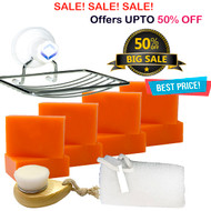 8 Bars of Kojic San Skin Lightening Whitening Kojic Acid Soap 65G + Leafa Soap Net + Relumins Soap Dish & Brush