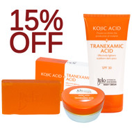 Belo Intensive Skin Lightening kojic & Tranexamic Acid - Face Treatment Beauty Set - Body Cream, Face/Neck Cream and Soap