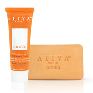 Aliya Paris Carotiq Carrot Intense Deep Moisturizing Whitening Cream and Exfoliating Carrot Soap