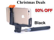 Selfie Stick Monopod  For IPhone & Android Handheld Bluetooth Extendable - Black