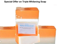 Special Mega Sale : (Pack of 3) Kojic Acid, Placenta & Glutathione Triple White Soap Appx. 150 gm