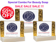 New Year Deals : Dalfour Beauty Gold Foil Skin Glutathione Skin Beauty Whitening Soap 135g