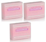 Premium Extra Strength Whitening Soap w/ Glutathione, Goat's milk, Rosehip, and Kojic Acid (Pack of 3)