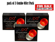 Combo Deals (Pack of 3) - Glupa Lightening Soap with Glutathione & Papaya - Plus Vitamins C & E, Arbutin, Grape Seed Extract Large Bar 135g