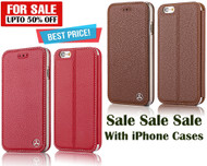 100% Genuine Leather Moible Case for iPhone 6 / iPhone 6S - Red, Brown - Combo Pack 2 in 1 Offer