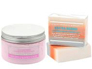 Premium Whitening Beauty Scrub + whitening Soap With Glutathione, Arbutin
