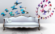 3D Removable Butterfly Wall Stickers for Wall, TV, Fridge - Blue,Purple Patterns