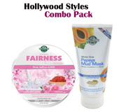 Hollywood Styles - Skin Whitening Glowing Papaya Mud Mask & Fairness Cream Combo Offer