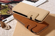 Special Sale for iPhone 6/6S Case : Universal Waist Belt Clip Soft PU Leather Wallet Flip  Case With FREE 3D Butterfly Stickers