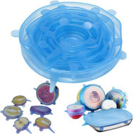 Silicone Bowl Lids, Set of 6 Reusable Suction Seal Covers for Bowls, Silicone Bowl Covers