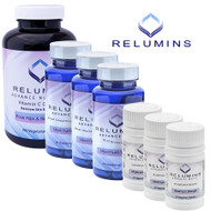 New Relumins Advanced White Oral Glutathione, Vitamin C Max & Booster Capsules - Ultimate Whitening Set - New And Improved Now With Rose Hips