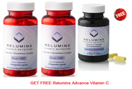 Buy 2 Relumins Advance Nutrition Gluta 1000 - Reduced L-Glutathione Complex - 2x More Effective at Raising Serum Glutathione - GET FREE Relumins Advance Vitamin C