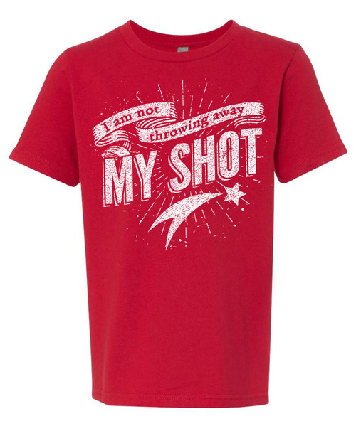 I Am Not Throwing Away My Shot - Boys Distressed Graphic Tee