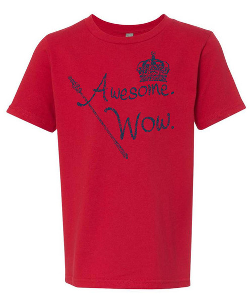 """""""Awesome Wow"""" - King George.  Hamilton distressed graphic tee."""