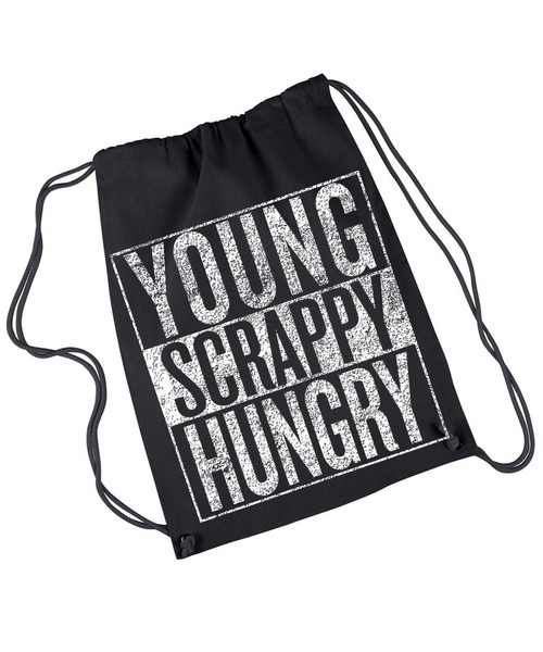 Young Scrappy and Hungry drawstring rehearsal bag.