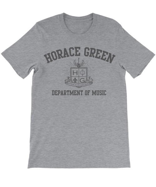 Horace Green Department of Music with logo - Stick it to the Man - School of Rock - T-shirt