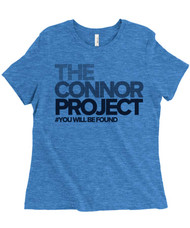 The Connor Project - Dear Evan Hansen - Women's Relaxed Fit Triblend T-Shirt - Royal Blue