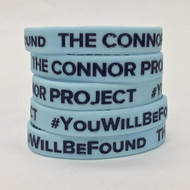 The Connor Project #YouWillBeFound - Silicone Wristband