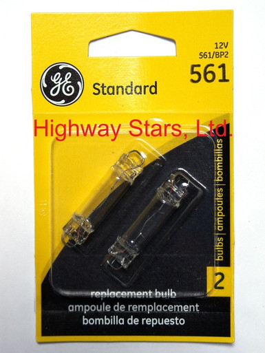 Pack of 2 Dome light lamp GE 561 bulbs available at Highway Stars