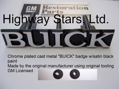 Buick Grill badge GM # 25526879 for 1987 Buick Grand National Turbo T