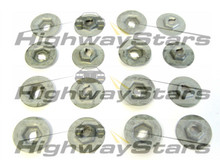 Door panel hardware nuts , door trim panel escutcheon retainer nuts for Buick Grand National door panels (aka Thread cutting nuts) GM  4450960-16