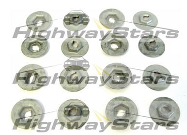 Door panel hardware nuts , door trim panel escutcheon retainer nuts for Buick Grand National door panels (aka Thread cutting nuts) GM  4450960-16