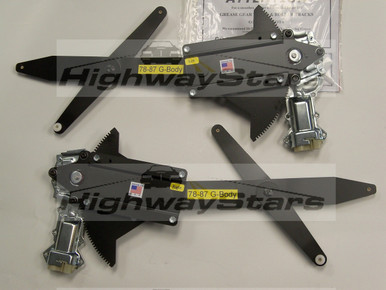 Pair of Brand New Window regulators with motors sold through Highway Stars