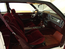 Buick Regal Turbo T or  T-type  FRONT seat covers showing the  2 materials used and are available through Highway Stars