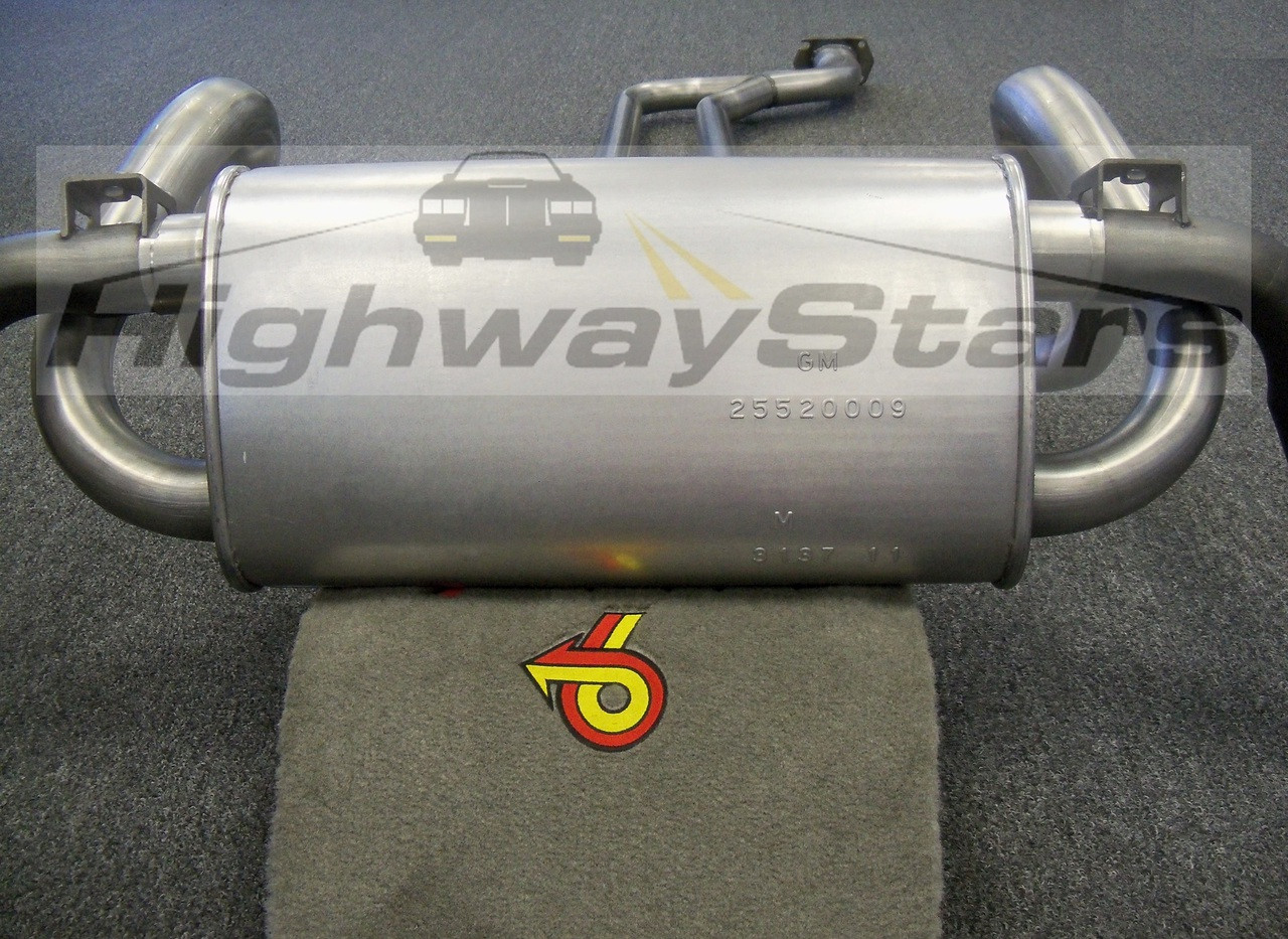 Muffler - Buick Grand National Reproduction Muffler - Choose yes or no  fixture checked - Licensed GM Restoration