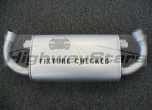 "1986 1987 Buick Grand National Turbo Regal Reproduction muffler 25520009 with ""Fixture checked"" stamp available through Highway Stars"