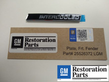 Licensed GM Restoration Intercooled badge # 25526372 LGM for 1986 1987 Buick Turbo Regal Grand National GNX