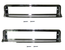 Turn Signal Lamp Bezels - Pair (RH & LH) - Blackout - Replaces GM# 25518984 & 25518985 + free screws