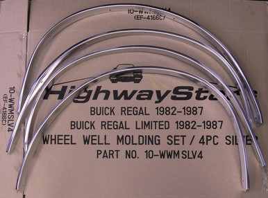 Set of 4 silver Wheel well moldings from Highway Stars