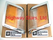 Lamps - Marker Lenses Set Chrome GM Licensed - 1 pair (RH & LH) - GM# 5974210 5974209