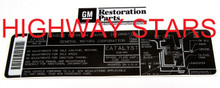 Licensed GM Restoration Emission Label for 1987 Buick Turbo Regal Grand National GNX #25529051 LGM