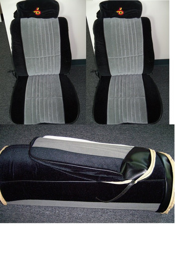 1986 1987 Grand National seat covers complete front and rear with embroidered headrests available through Highway Stars  SKU 729 Grand National Reproduction Material Front Bucket Seat, Head Rest and rear Bench Seat Covers