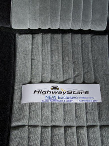 Interior- 85-87 Grand National Seat covers - Black Exclusive/Grey Exclusive Complete Set with BLACK Headrests