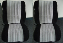 Interior, 1985-1987 Grand National Seat Upholstery - Complete Velour Set (2 buckets, rear seat & BLACK Headrests)
