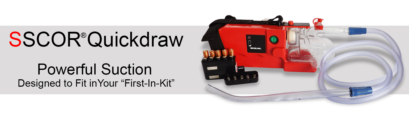Quickdraw Alkaline Powered Suction Unit